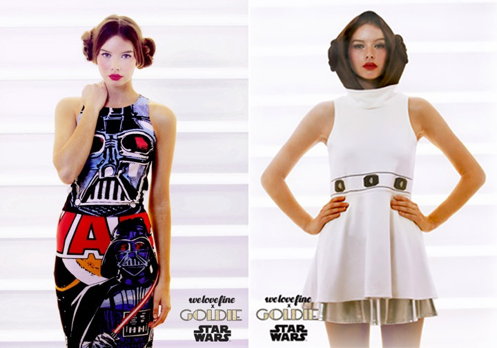 Star Wars Fashions from WeLoveFine x Goldie