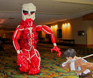 Epic Attack on Titan Balloon Cosplay