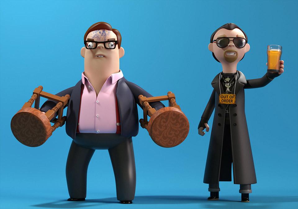 Cornetto Trilogy Toy Figures Mightymega