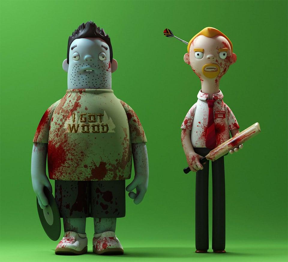Cornetto Trilogy Toy Figures