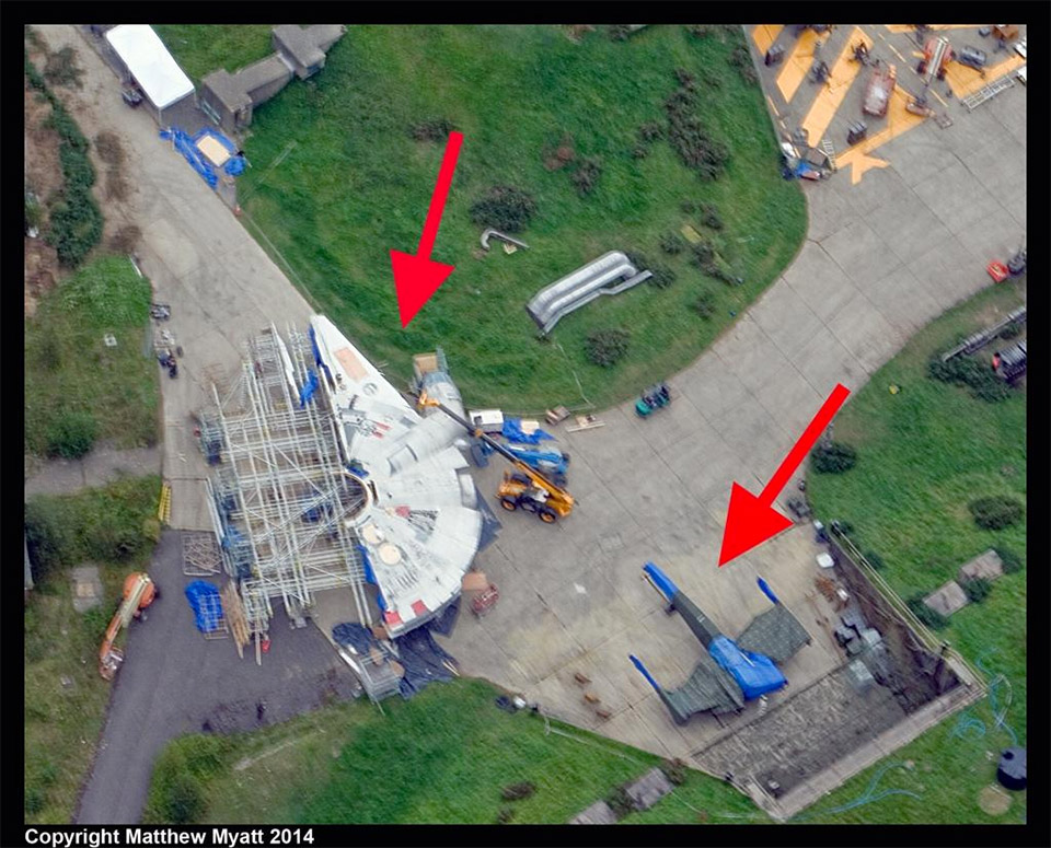 Episode VII Millennium Falcon and X-Wing Spotted