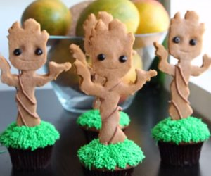 Make Your Own Baby Groot Cupcakes
