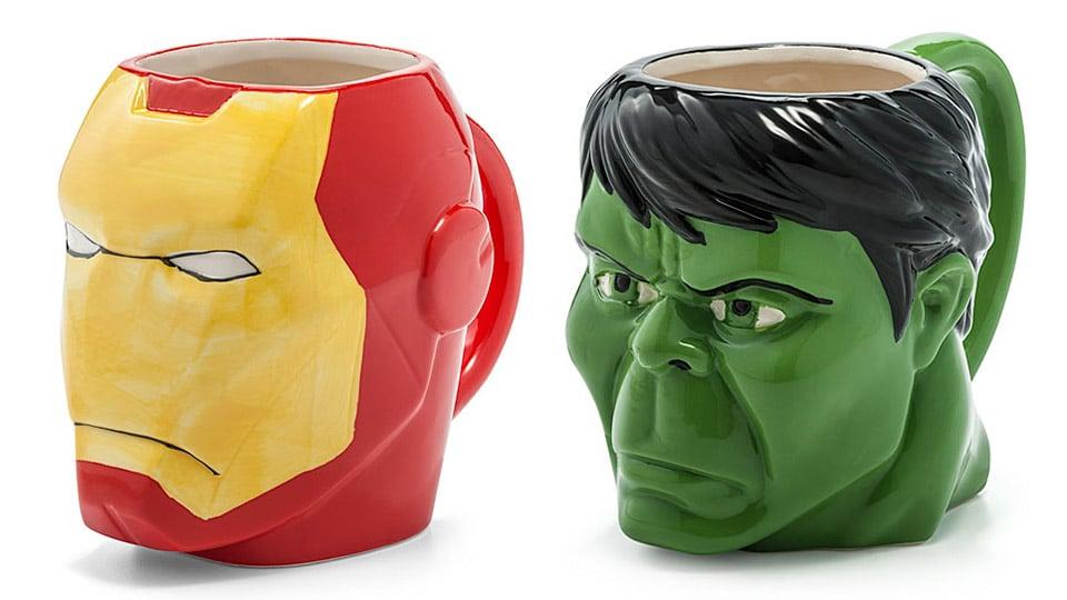 Iron Man and Hulk Mugs