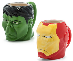 Iron Man and Hulk Mugs
