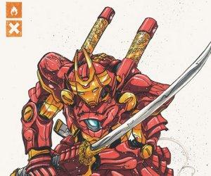 Iron Man in Samurai Armor