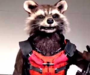 Animatronic Rocket Raccoon is Creepy