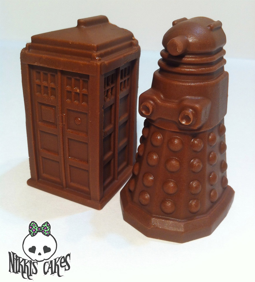 Truffle TARDIS and Dalek Chocolates
