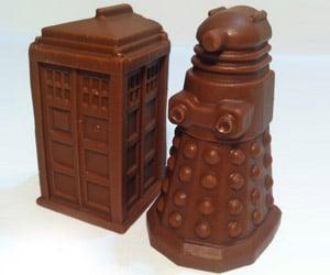 Truffle TARDIS and Dalek Chocolates