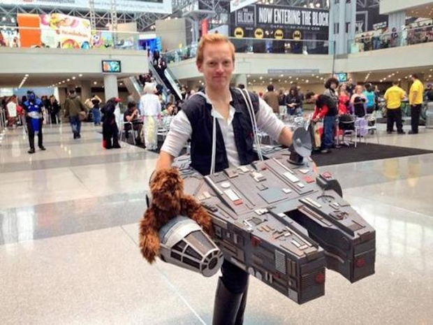 Han and Chewie Flying the Falcon Cosplay