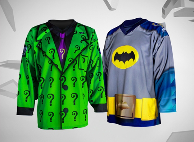 Hockey Teams to Play in Batman and Riddler Uniforms