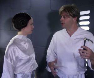 """""""Lost"""" Star Wars Scene: Leia Rescues Luke"""