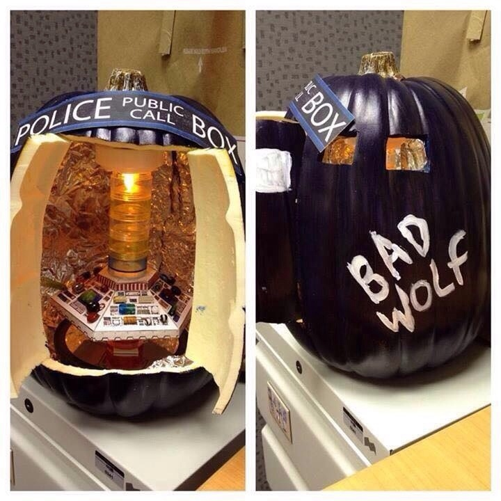 Bad Wolf TARDIS Pumpkin