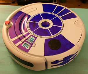 Vacuum Gets the R2-D2 Treatment: Roomba2-D2