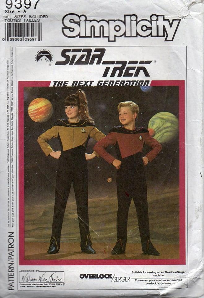 Star Trek TNG Costume Patterns: Retro Halloween