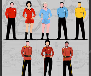 Infographic: A Guide to Star Trek Uniforms