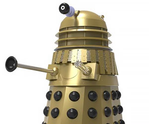 Day of the Daleks Gold Dalek Statue