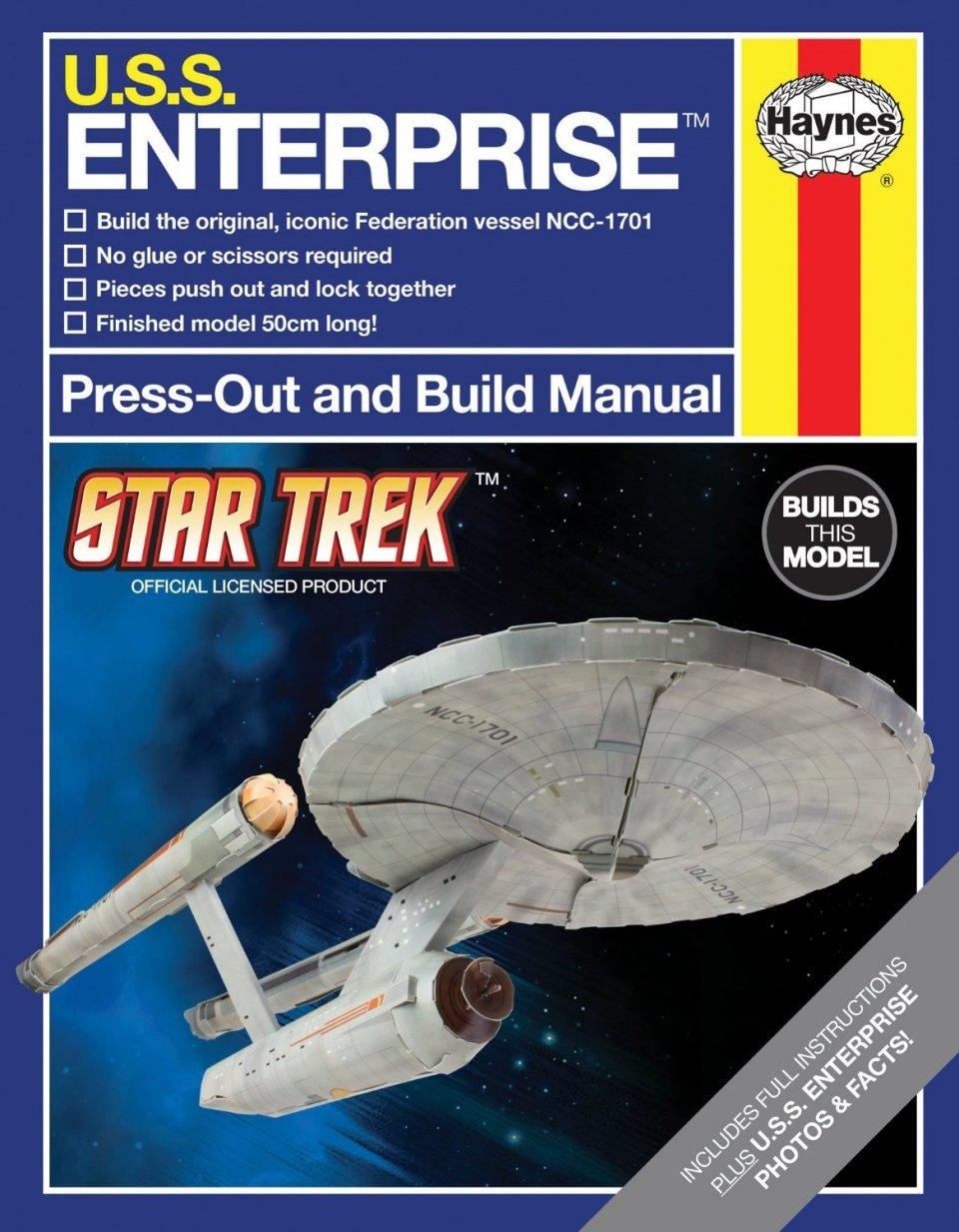 Press-out and Build U.S.S. Enterprise Haynes Manual