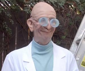 Epic Professor Farnsworth Makeup