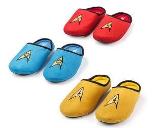 Star Trek TOS Slippers: Boldly Slip Them on