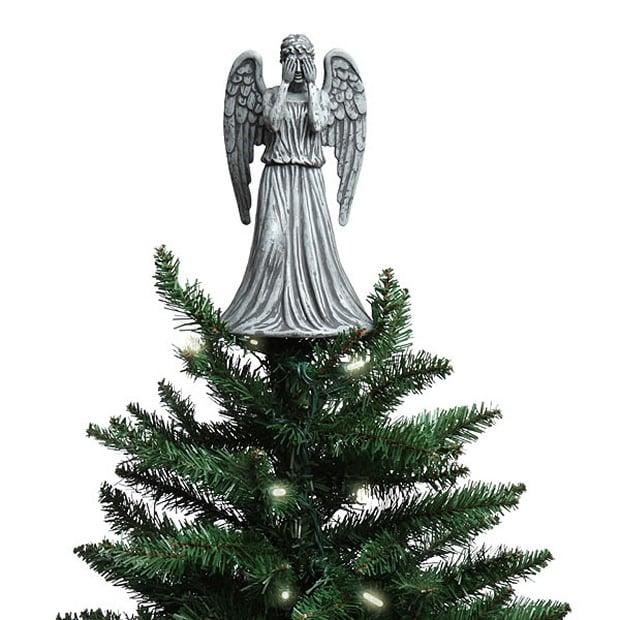Weeping angel christmas tree topper mightymega for Angel christmas tree decoration