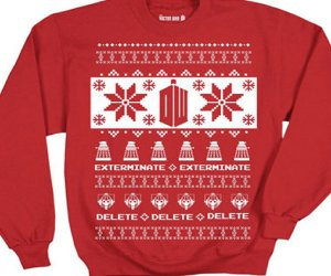 Doctor Who Villains Red Ugly Christmas Sweater