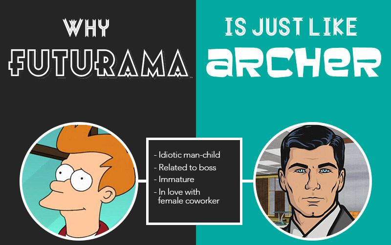 Are Futurama and Archer the Same Show?