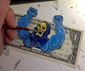 Geeky Money Art by Donovan Clark