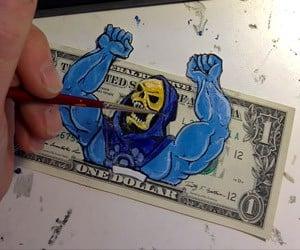 Geeky Money Art by Donovan Clark