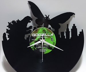 Godzilla vs. Mothra Vinyl Record Clock