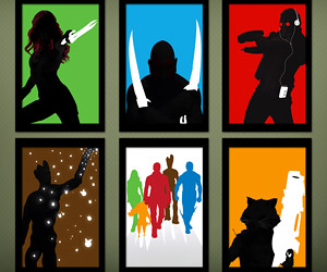 Guardians of the Galaxy Silhouette Posters