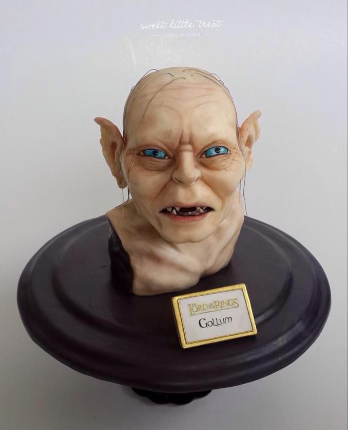 Realistic Gollum Cake Is Precious