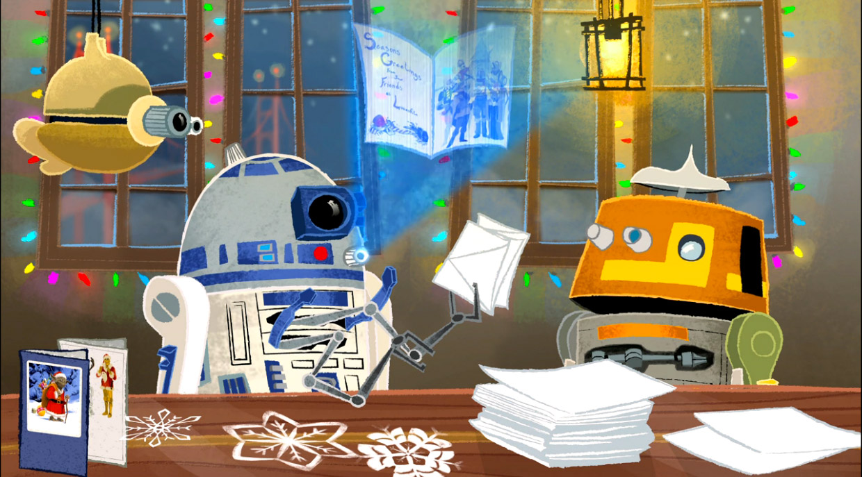 Lucasfilm's Animated Star Wars Christmas Card