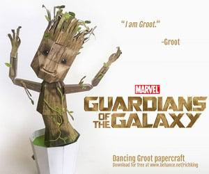 Papercraft Dancing Baby Groot