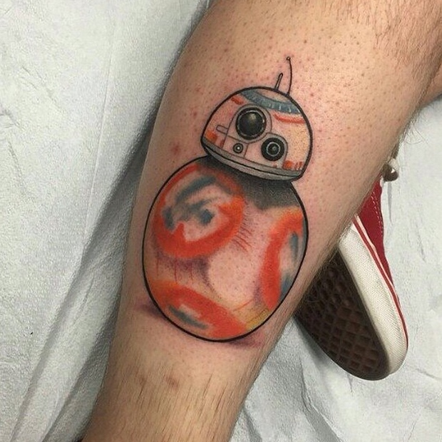 Someone Already Has an R0-T8 Roller Droid Tattoo