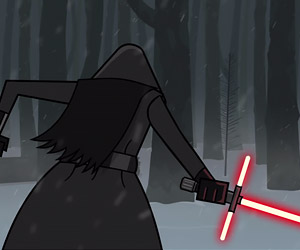Leaked Lightsaber Scene from Star Wars Episode VII