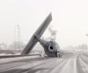 TIE Fighter Crashes on the Autobahn