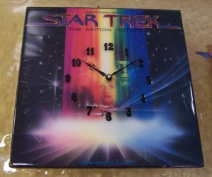 Star Trek The Motion Picture Album Cover Clock
