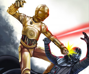 C-3PO Beats Down Darth Vader