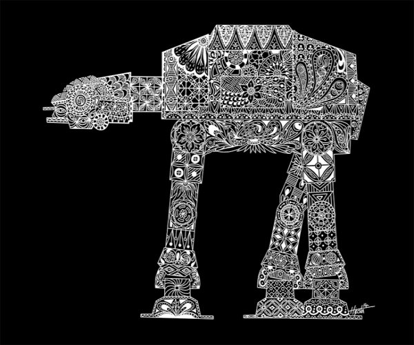 Patterned Paisley AT-AT Print