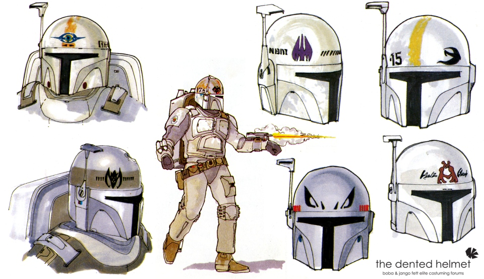 Concept Art Shows the Evolution of Boba Fett