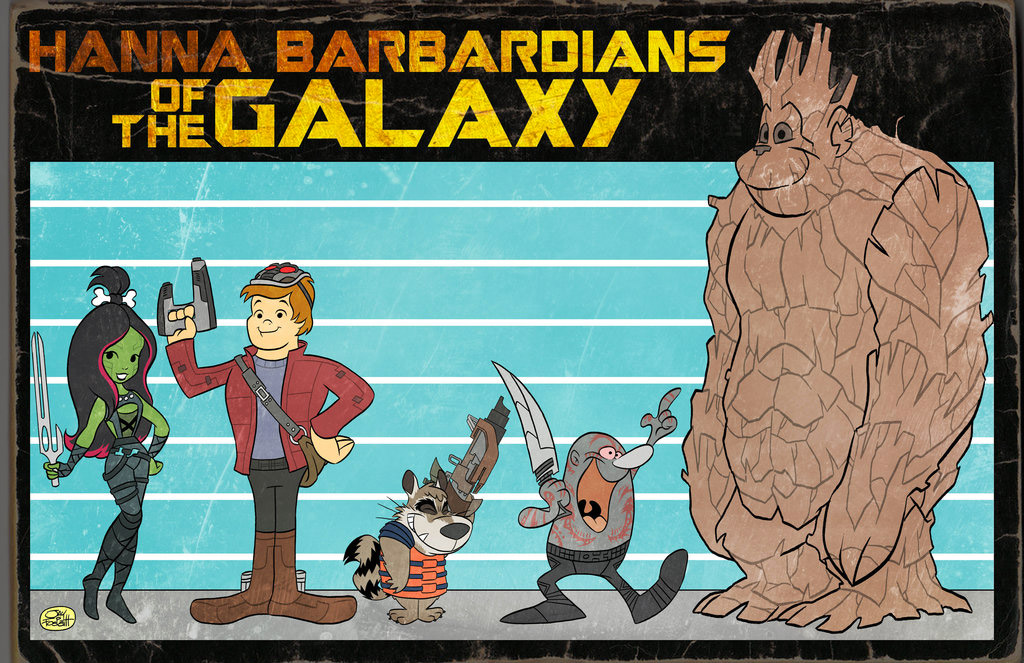 If Hanna Barbera Made Guardians of the Galaxy
