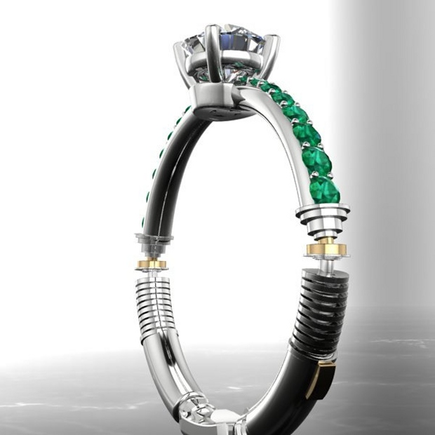 lightsaber engagement ring mightymega With lightsaber wedding ring