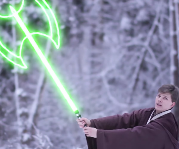 A Modern Lightsaber Battle