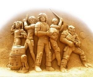 Star Wars Rebels Sand Sculpture
