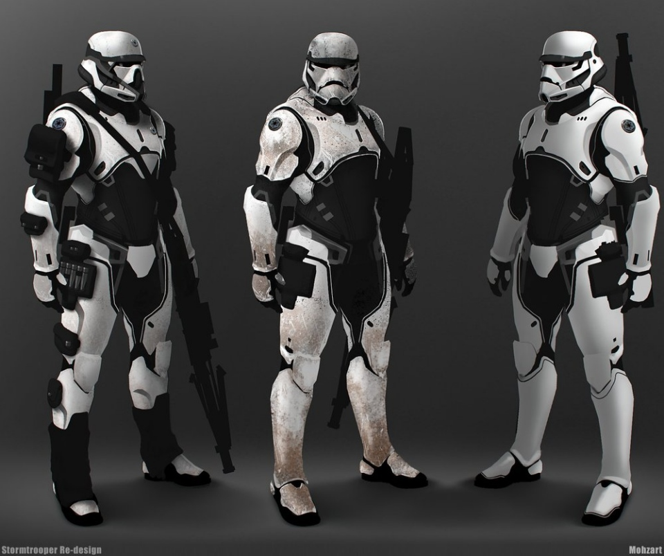 Elite Stormtrooper and Darth Vader Fan Art