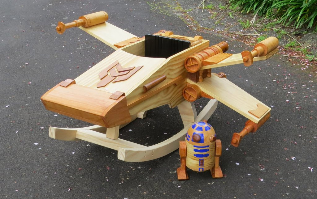 The X-Wing Fighter Rocking Horse