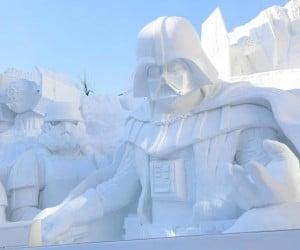 Epic Star Wars Snow Sculpture