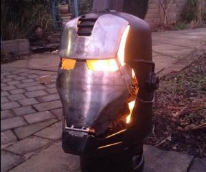 Iron Man War Machine Log Burner