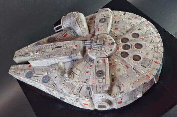 Millennium Falcon Cake Mmmm Chewie Mightymega