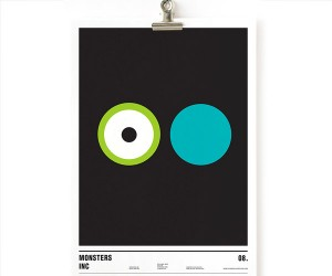 Circular Minimalist Movie Posters